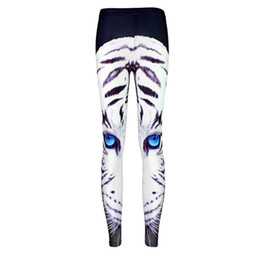 $enCountryForm.capitalKeyWord UK - Elastic Casual Pants 3D Digital Printing Blue-eyed White Tiger Pattern Women Leggings 7 sizes Fitness Clothing Free Shipping