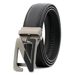 $enCountryForm.capitalKeyWord UK - KAWEIDA new fashion hollow Two-tone Z designer belts for men 2018 Automatic buckle genuine leather letter belt for men cinto