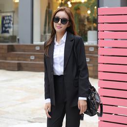 $enCountryForm.capitalKeyWord Canada - 2018 2 Piece Sets Women Business Pant Suits Fashion Formal Office Lady Plus Size Loose Full-Sleeve Blazer Korean Style S85503X