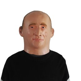 $enCountryForm.capitalKeyWord UK - 2018 Hot Sale Russian President Vladimir Putin Latex Mask Full Face Halloween Rubber Masks Masquerade Party Adult Cosplay Fancy Costume