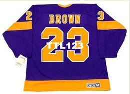 Wholesale Men DUSTIN BROWN Los Angeles Kings s CCM Vintage Home Hockey Jersey or custom any name or number retro Jersey