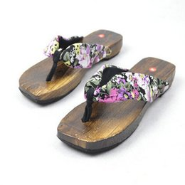 c3f948ac9c05 MEN And Women Japanese SAMURAI Clogs Wood Sandals Unsex Clogs Shoes Flat  Wood Heel Square Toe Shoes Summer Plank Sandals W118