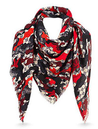 Wool Fiber Australia - Women Classic style scarves wraps silk wool shawls pashmina MAXIMALLE SQUARE M70685