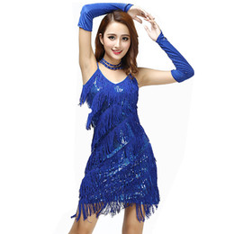 China Adult 1920's Gatsby Girl Flapper Fringe Party Dress Retro Roaring 20s Disco Flapper Costume Halloween Fancy Dress Latin supplier women s latin dance costumes suppliers