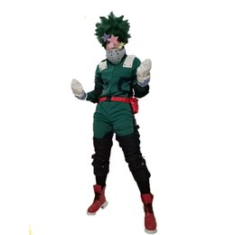 Anime My Hero Academia Traje Cosplay Izuku Midoriya Cosplay Traje de Batalha Vestido Outfit Com Acessórios Livre Shiping