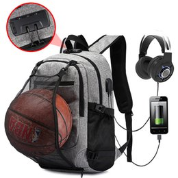 16 inches laptop 2018 - 16 Inch Laptop Anti-theft Men Backpack With USB Charging Headphone Interface Port Lock Business Waterproof Gray Drop Shi