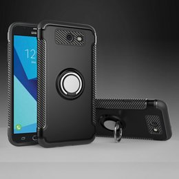 China Vehicle Armor Case For Samsung Galaxy J3 J7 2017 US J5 2016 With Ring Stand Shockproof Shell Hard PC + Soft TPU Mobile Phone Back Cover cheap samsung galaxy j7 mobile covers suppliers