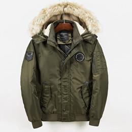 $enCountryForm.capitalKeyWord Canada - 2018 Winter  Jacket Thick Fur Collar Hooded Parka Army Pilot Pocket Windproof Coat Mens Windbreaker Clothing Green WS101