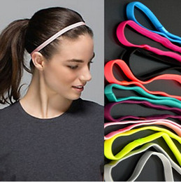 Discount elastic rubber bands fitness - Women Softball Sports Elastic Headbands Yoga Fitness Elastic Rubber Hair Band Anti-Slip Hair Accessories Bandage 50pcs l