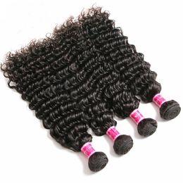 $enCountryForm.capitalKeyWord UK - ZhiFan Brazilian Hair 10-30inch Afro Deep Curly Wave Bulk Human Hair Machine Wefts For Black Women Braiding