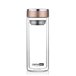 $enCountryForm.capitalKeyWord Canada - Coffee Boy My Bottle For Water Protein Shaker Men Office Transparent Double Glass Water Bottle
