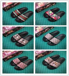 Snake baSketball online shopping - Top Quality Luxury Brand Designer Men Summer Sandals Beach Slide Fashion Slippers Indoor Shoes Tiger Flowers Snake Size EUR