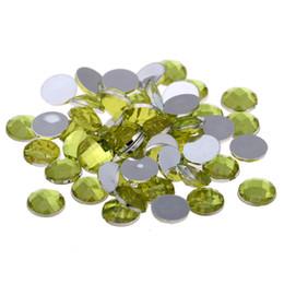 16mm 500pcs Round Gems Flatback Earth Facets Acrylic Rhinestone Craft Art  DIY Big Size Stones Strass High Shine Nail Art Stones 53e8b59e5932