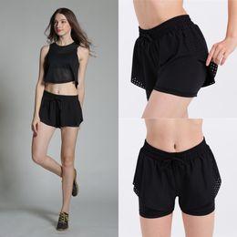 sexy black women yoga pants 2019 - Wholesale New Sports Running Leggings Gym Jogging Shorts Yoga Shorts Side Stripe Pants Sexy Hip Push Up Shorts Fitness d