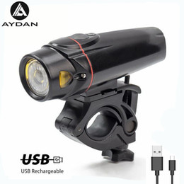 $enCountryForm.capitalKeyWord NZ - Waterproof Bicycle Front Light USB Rechargeable Bike Headlight Cycling Intelligent Induction Light MTB Flashlight Bike Lights