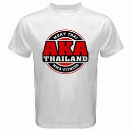$enCountryForm.capitalKeyWord NZ - Aka Thailand Gym Logo Muay Thai Mma Kick Boxing Men's White T-Shirt Size S-3Xl T-shirt Men Boy Fashion Short Sleeve Fashion Custom XXXL Grou