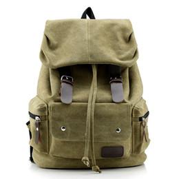 $enCountryForm.capitalKeyWord NZ - 2018 New Vintage Leather Backpacks Men Women College School Backpacks Female Travel Bag Big Canvas Backpack Large Bag