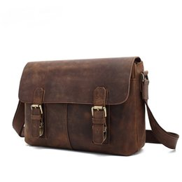 briefcases men UK - New Fashion Cowhide Men Genuine Leather Shoulder Bag Messenger Business Briefcase Cowskin Business Bags