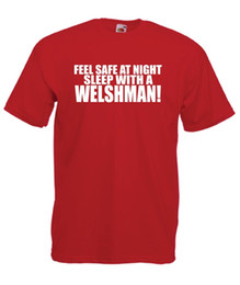 SLEEP WITH A WELSH MAN Funny Wales Xmas Birthday Gift Ideas Menswomens Free Shipping Unisex Casual Tee