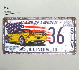 $enCountryForm.capitalKeyWord UK - DL-LAND OF LINCOLN 36 License plate Metal Sign vintage shabby chic decorative wall plaque.Man cave