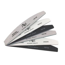 $enCountryForm.capitalKeyWord NZ - 6pcs  pack 100 180 240 Grit Nail Files Washable Double-Side Emery Board Nail Buffering Files Salon Manicure Tools Supplier