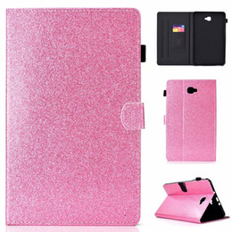 Discount series skins - Leather Case For Samsung Galaxy Tab A 10.1 2016 T580 T585 Cover Fundas Tablet Fashion Loose powder series Skin Flip Stan