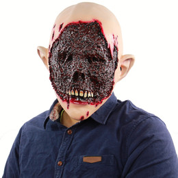 $enCountryForm.capitalKeyWord NZ - Halloween Creepy Bloody Face Adult Horror Mask Zombie Latex Scary Extremely Disgusting Full Face Mask Costume Party Cosplay Prop