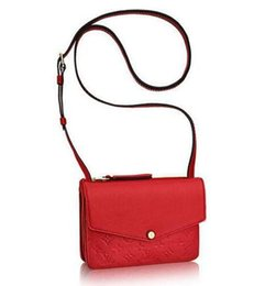 Faux Twinset Dress Australia - Female bag Twinset handbag M50259 red TOP OXIDIZED REAL LEATHER ICONIC BAGS SHOULDER BAG TOTES CROSS BODY BUSINESS MESSENGER BAGS