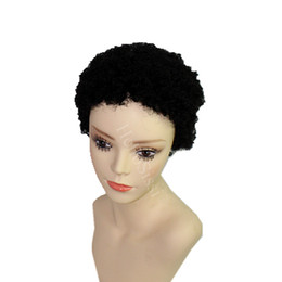 Afro American Hair Australia - Rihanna African Americans Afro kinky curl Hairstyles Brazilian Short Hair Wigs Black Short Full Hair Lace Wig Glueless Wig For Black Women