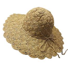 2018 Beach Summer Female Hat Wide Brim Floppy Straw Sun Hat Beach Women Hat  Foldable UV Protect Travel Cap Ladies Casual Cap S 0fa74c270789
