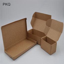small paper gift boxes UK - 30pcs mini carton boxes kraft paper gift box small blank cardboard paper packaging box craft gift handmade soap packing boxes