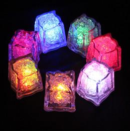 $enCountryForm.capitalKeyWord Australia - LED Ice Cube Multi Color Changing Flash Night Lights Liquid Sensor Water Submersible For Christmas Wedding Club Party Decoration Light lamp