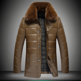 leather coats fur collars UK - Plus Size 8XL 2017 Winter Long leather Trench Coat Men Jackets Casual PU Suede Fur Collar Leather Jacket Men Windbreaker