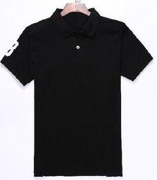 $enCountryForm.capitalKeyWord UK - American Men Classic Polo Shirt With Big Horse Cotton Sports Polos Camisa USA Solid Polo Shirts White Black Red M-XXL