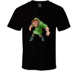 Custom Print T Shirt Cheap Australia - Quasimodo Cartoon Hunchback Cartoon T Shirt 2018 hot tees custom printed tshirt free shipping Cheap tees T shirt printing