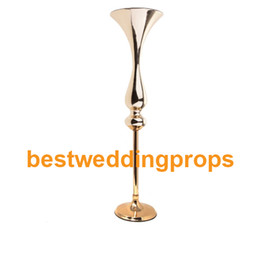 $enCountryForm.capitalKeyWord UK - hot sale new style reversible trumpet mental iron flower vase tall flower stand wedding flower holder home party event decor best0093