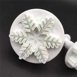 $enCountryForm.capitalKeyWord NZ - Snowflake fondant mold Easy to clean 3pcs Fondant Mold Cutter Sugarcraft Cake tools Pasta printing