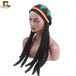 jamaica hats Australia - New Fashion Unisex Jamaica Rasta Slouchy Beanie Hat Winter Warm Knitted Reggae Multi-colored Striped Hip Hop Baggy Cap