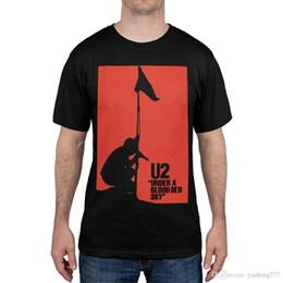 T-shirt da uomo all'ingrosso da uomo O-Collo U2 da uomo T-shirt rossa da uomo a maniche corte T-shirt divertente O collo in Offerta
