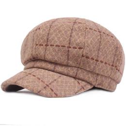 86d36e9f599 HT2045 Wool Beret Women Autumn Winter Hat for Women Retro Vintage Duckbill  Octagonal Newsboy Cap Artist Painter Beret Hats