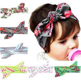 Discount diy baby head bows - Baby Girls Headbands Bows DIY Bunny Ear Cotton Head Band Kids Floral Turban Newborn Knot Elastic Hairband Children Hair