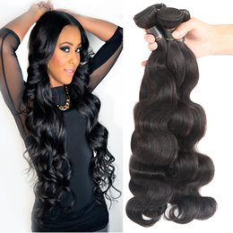 Discount dyeable hair weave Unprocessed Brazilian Body wave Hair weave Cheap Human Hair Bundles Peruvian Indian Malaysian Hair Extensions Dyeable