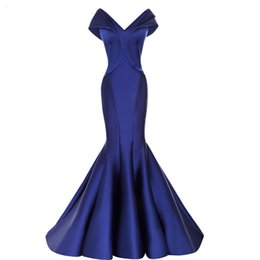$enCountryForm.capitalKeyWord UK - Royal Blue Long Prom Dresses 2018 Sexy Mermaid Cap Sleeve V-neck Pleat African Floor Length Custom Made Satin Evening Dress Formal Wear