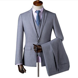 best three piece suit design NZ - New Design Fashion Man Wedding Suits Custom Made Three Pieces Best Groomsmen Suit Wedding Tuxedos (jacket+pant+vest)