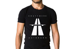 pop tees Australia - Kraftwerk Autobahn 1974 Album Cover T-Shirt Round Neck Teenage Pop Top Tee Men Adult Slim Fit T Shirt S-XXxl Punk Tops