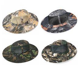 586160df2e1620 Camouflage Army Style Fishing Cap Bucket Hat - Fisherman Camo Ripstop  Jungle Bush Hats Boonie Wide Brim Sun Caps