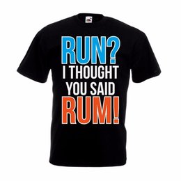 $enCountryForm.capitalKeyWord NZ - I Thought You Said Rum T-Shirt Funny Birthday Runninger Christmas Gift Top Casual Short Sleeve Shirt Tee