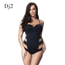 52b1f12d4ad2d Sexy Transparent Mesh Plus Size Swimwear Women One Piece Bandeau Swimsuit  Push Up Bathing Suit High Cut Backless Monokini 6XL