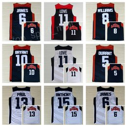 Chinese  2012 US Dream Team Ten Jersey 5 Kevin Durant 10 Kobe Bryant 12 James Harden Chris Paul Basketball Jerseys 13 American Team Navy Blue White manufacturers