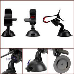 Hi-Quality Universal 360 ° Car AUTO ACCESORIOS Ángulo ajustable Teléfono giratorio Soporte para parabrisas Soporte para GPS Envío gratis en venta